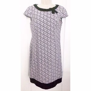 LONDON TIMES Black White Short Sleeve Dress 4